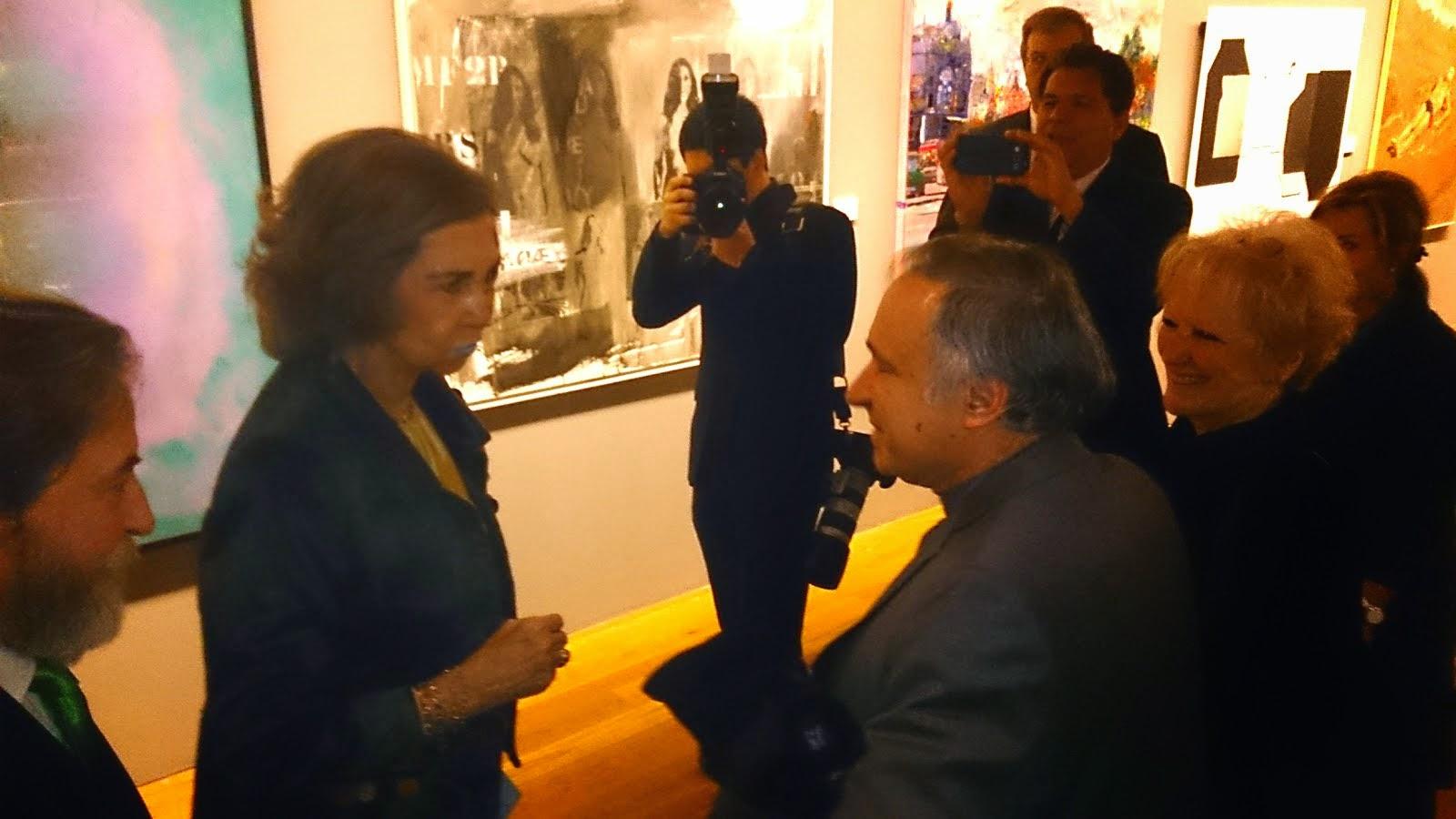 Su Majestad La Reina Doña Sofía & Vicente Heca.