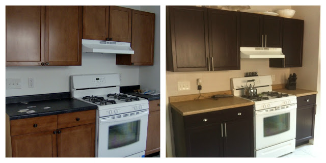 Painted+Kitchen+Cabinets+Before+and+Afte
