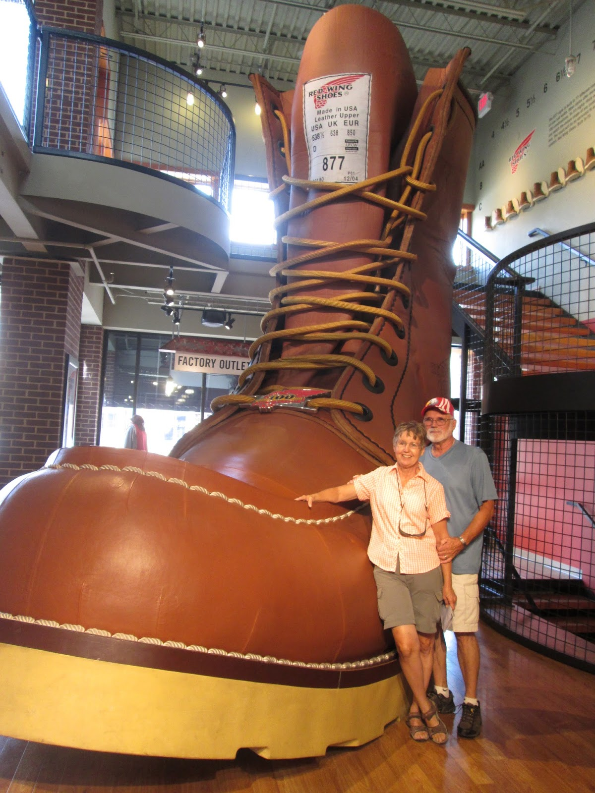 Bill and Jan RVing the USA: The Biggest Boot in the World
