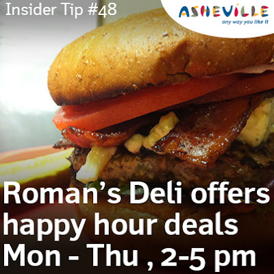 Asheville Insider Tip: Avoid the Lunch Rush and Save Money at Roman's Take Out.