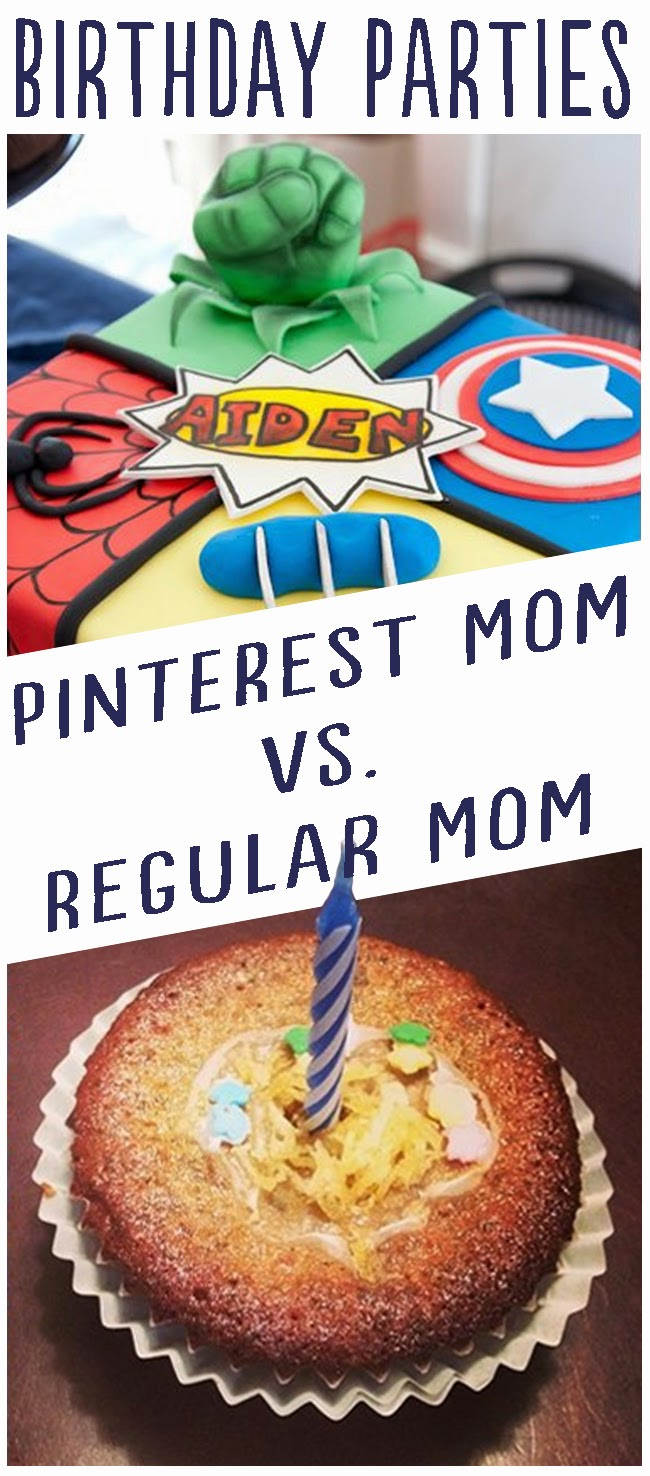 Kids' Birthday Parties: Pinterest Mom vs. Regular Mom by Robyn Welling @RobynHTV