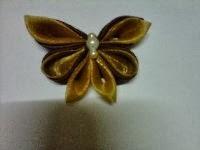 BROS KUPU-KUPU 01 (handmade) dari bahan satin & organdi