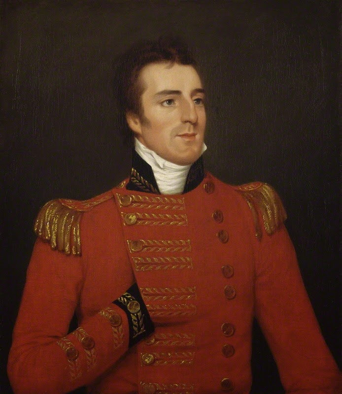 Arthur Wellesley, 1st Duke of Wellington  by Robert Home oil on canvas (1804)  © NPG 1471 (1)