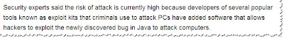Java to attack computers