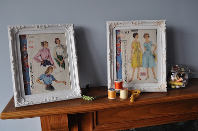displaying vintage sewing patterns http://snadralovesblogging.blogspot.co.uk/