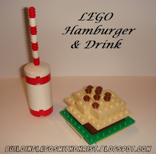 LEGO Food, LEGO Hamburger and Drink