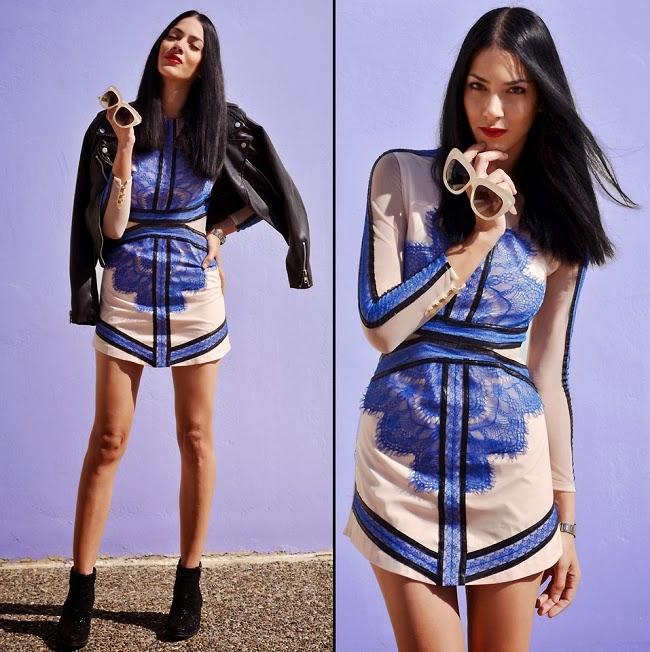 2013 SS Three Floor China Blue Dress