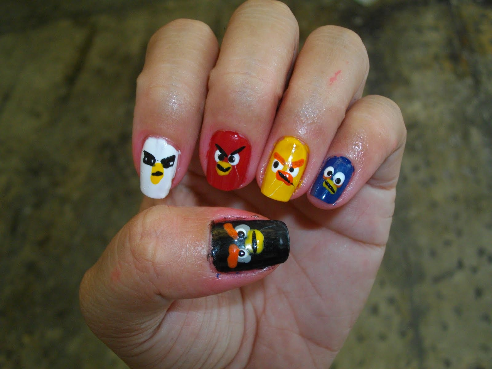 ☠ istaylista ☠: Lin\'s Version of Angry Birds Nails