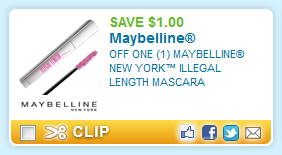 $1.00 off one Maybelline NY Illegal Length Mascara