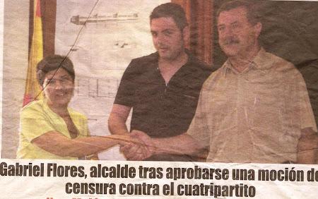 ROSA CANO  y GABRIEL FLORES  han favorecido las obras ilegales de Nicolas Piñero
