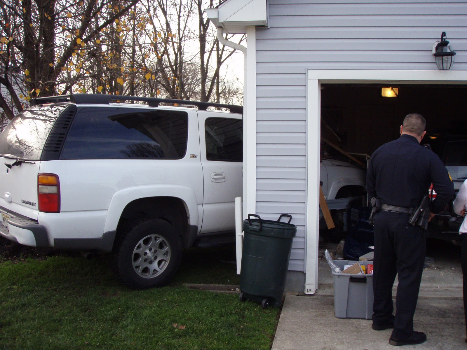 Cherry Hill Fd Vehicle Crashes Into Private Residence