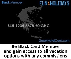 greek hotel card