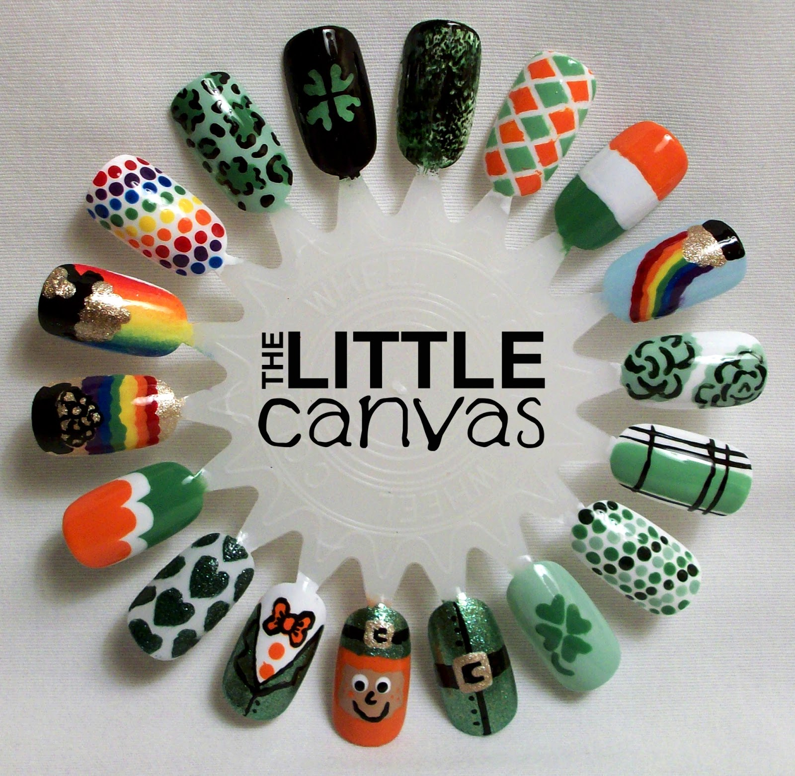 St Patricks Day Nail Art Wheel The Little Canvas