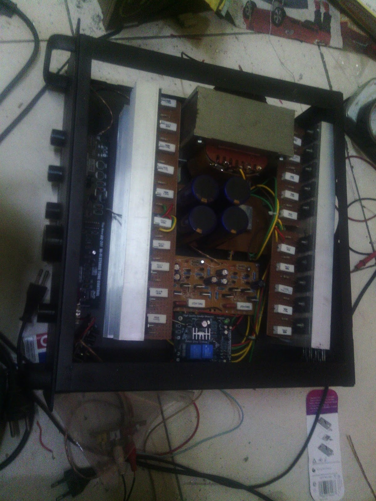 CARA MEMBUAT POWER AMP 1000 WATT HASIL DI ATAS POWER BUILT UP