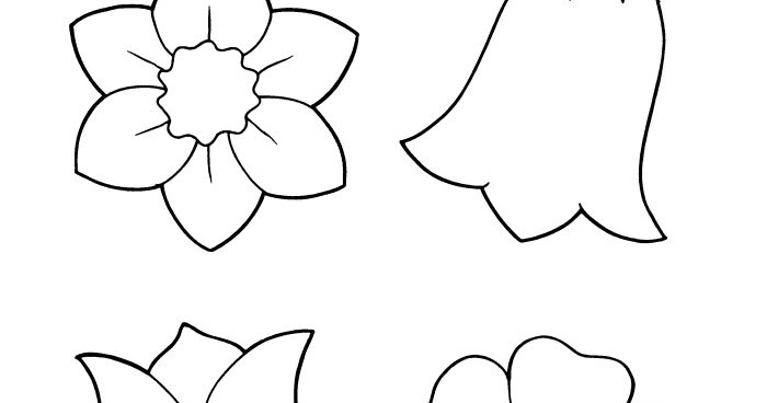 spring flower coloring sheets flower coloring page