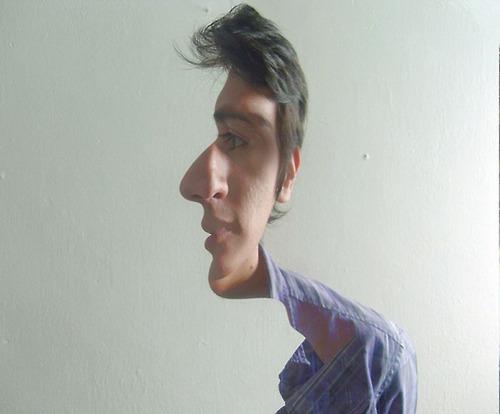 De perfil ou de frente?