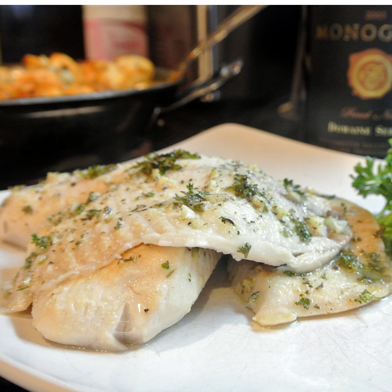 Mom, What's For Dinner?: Broiled Tilapia with Garlic