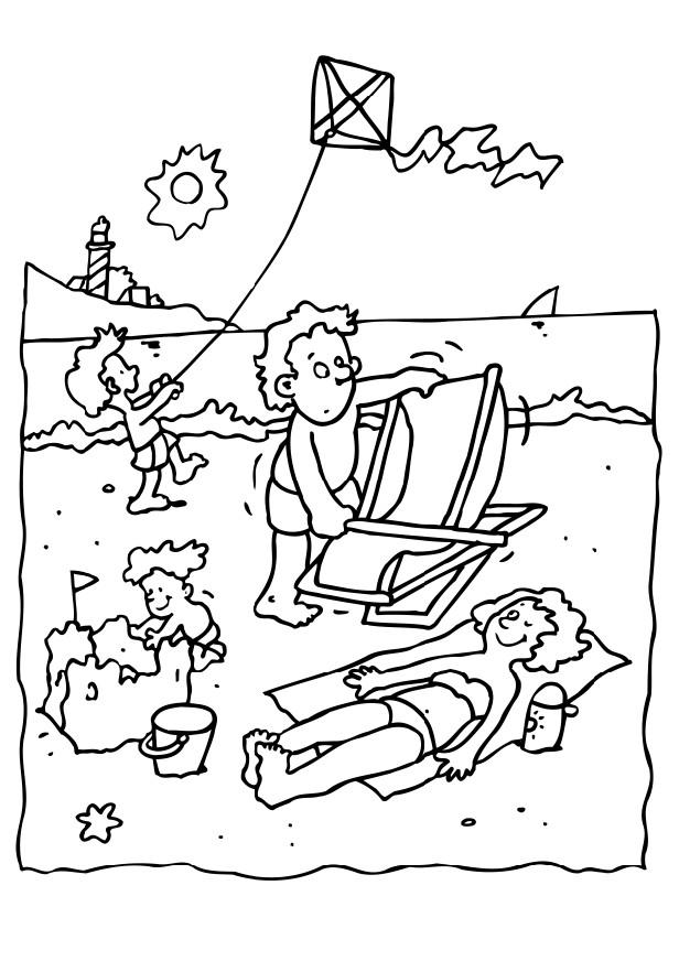 Kids Coloring Pages Beach Coloring Pages