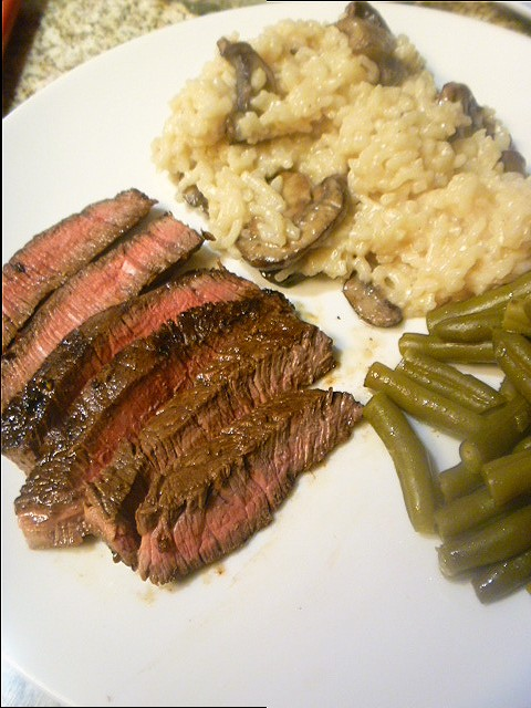 Slice of southern date night balsamic steak for Fancy at home dinners