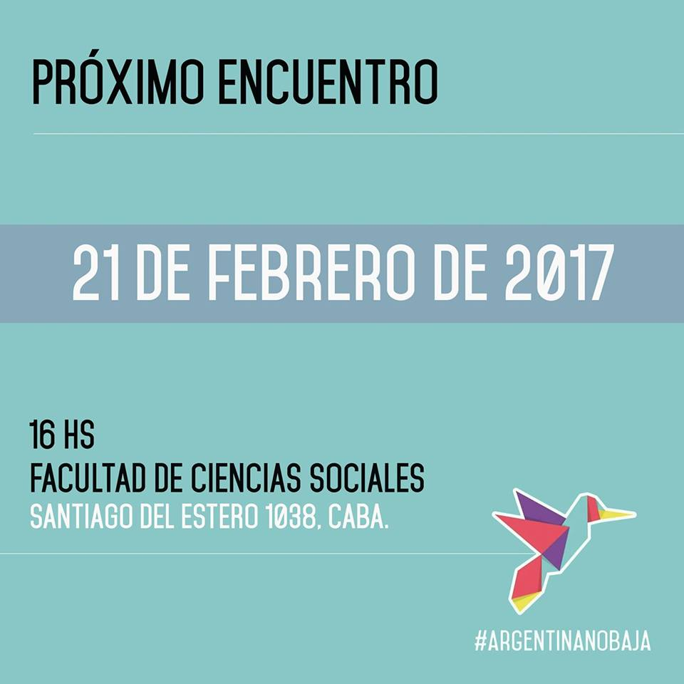 Plenario 21/2 ARGENTINA NO BAJA