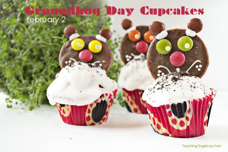 marmota Magdalenas perfectas [Groundhog day Cupcakes]