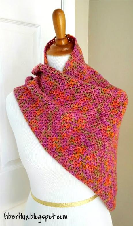 Crochet Zinnia Flower Pattern : Free Crochet Pattern...Zinnia Flower Shawl! Fiber Flux ...