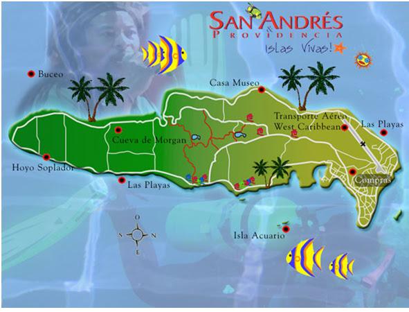 la cueva de morgan en San Andres y Providencia UBICACIN DE LA