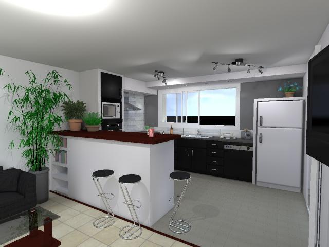 Etude et conception 3d cuisine for Cuisine 3d concept dole