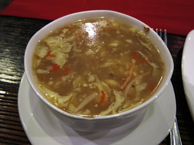 Spicy crabmeat soup at Trikaya Pune