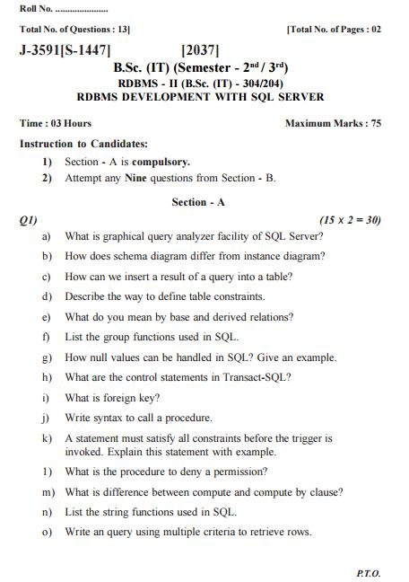 University question ?
