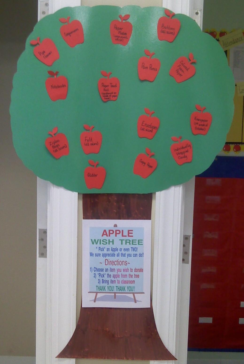 Apple Tree Classroom Ideas ~ Crafts for preschoolers apple donation tree