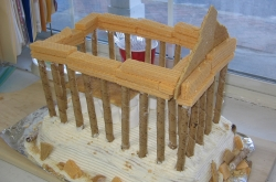 how to make a greek temple out of cardboard