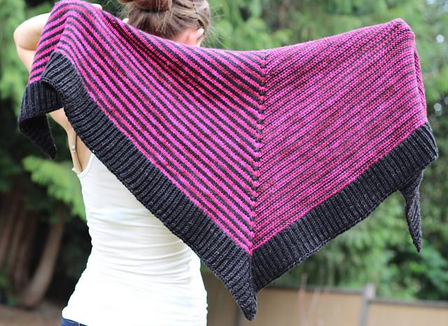 chale en laine modele