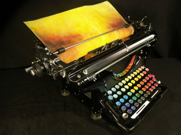 Typewriter Color Art  Seen On www.coolpicturegallery.us