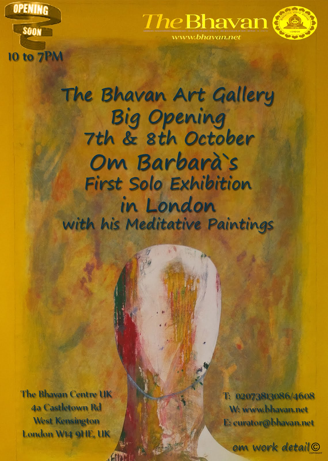 Coming soon exhibition in London October 2015