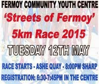 Streets of Fermoy 5k...Tues 12th May