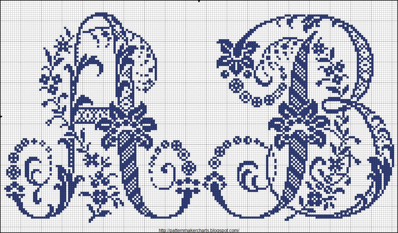 Схема вышивки крестом буквы а большой