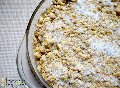recipe apple pear fruit crumble halal organic