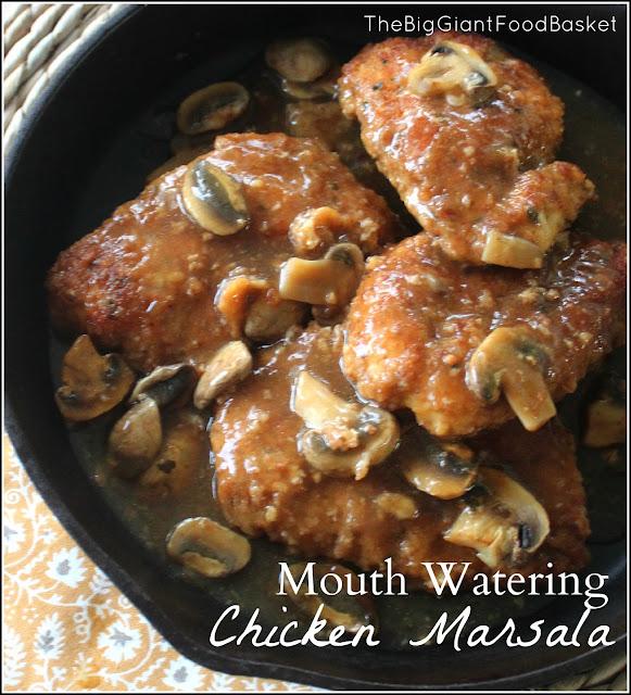 ... Food Basket: Classic Recipe ~ Chicken Marsala with Mushroom Sauce