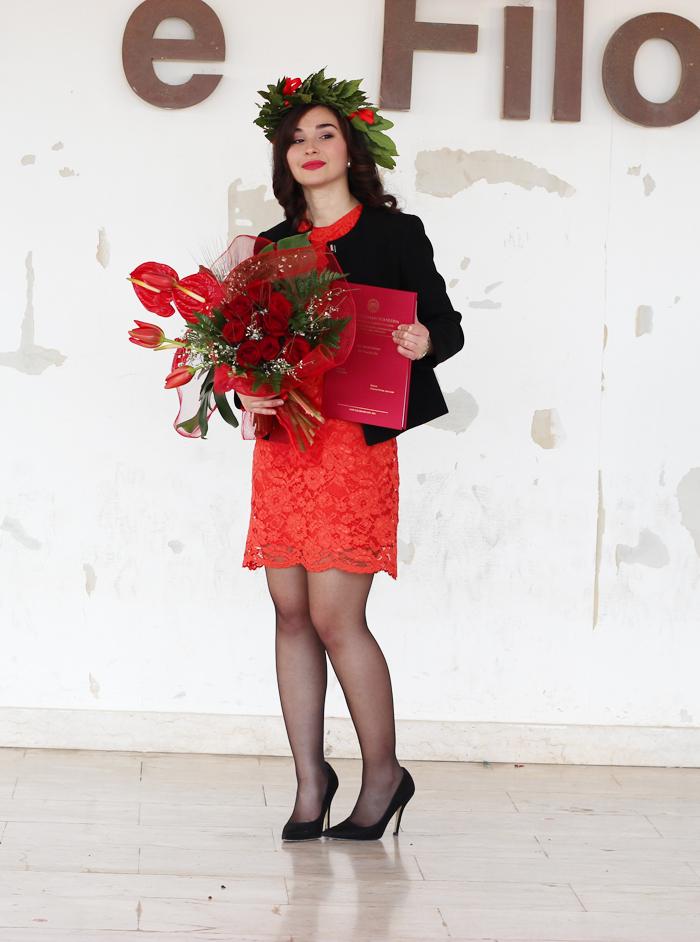 Sparkly Fashion Outfit colorato per la Laurea