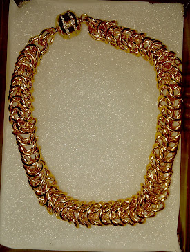 Silver plated gold color box weave