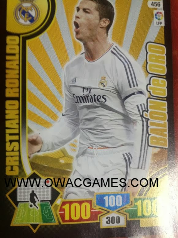 Adrenalyn XL 2013-14 Ronaldo Balón de Oro