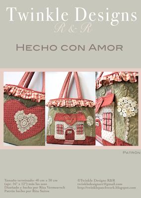 bolso Hecho con Amor - Twinkle Designs R&R