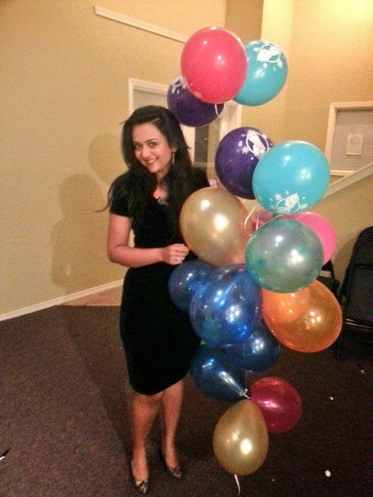 A girl holding many balloons, cute indian girl, birthday gal, Indian fashion blogger