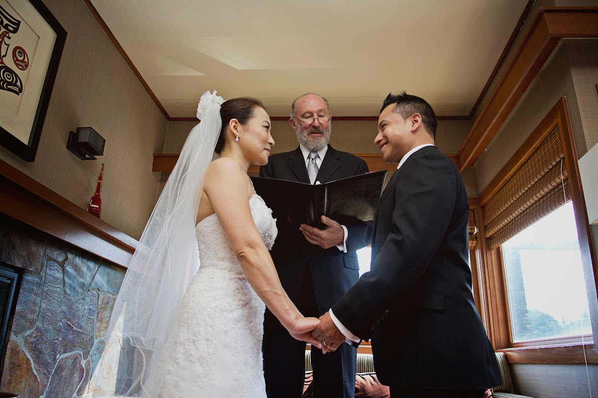 Luis and Miki wed - Kent Buttars, Seattle Wedding Officiant