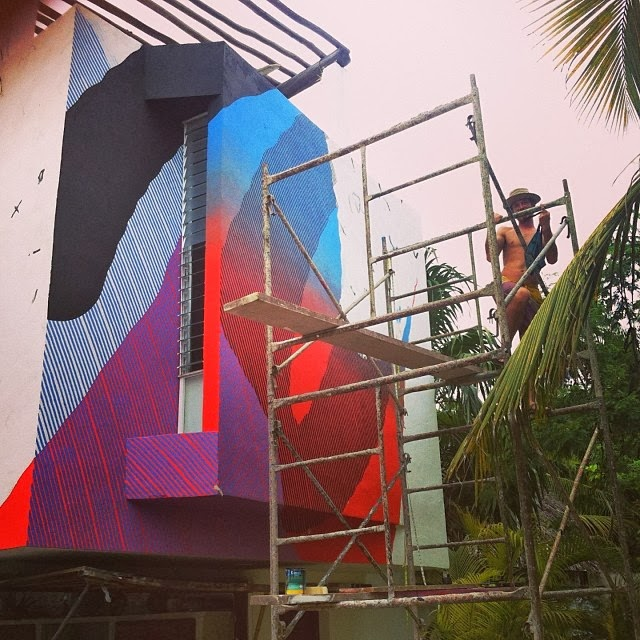 MOMO Starts 2014 with a brand new street art mural at the Residence Gorila in Tulum, Mexico. 3