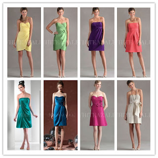 satin short bridesmaid dresses