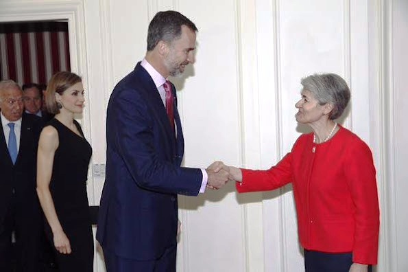 King Felipe And Queen Letizia Attends A Reception In Paris