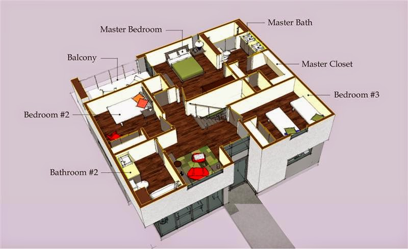 Map house design
