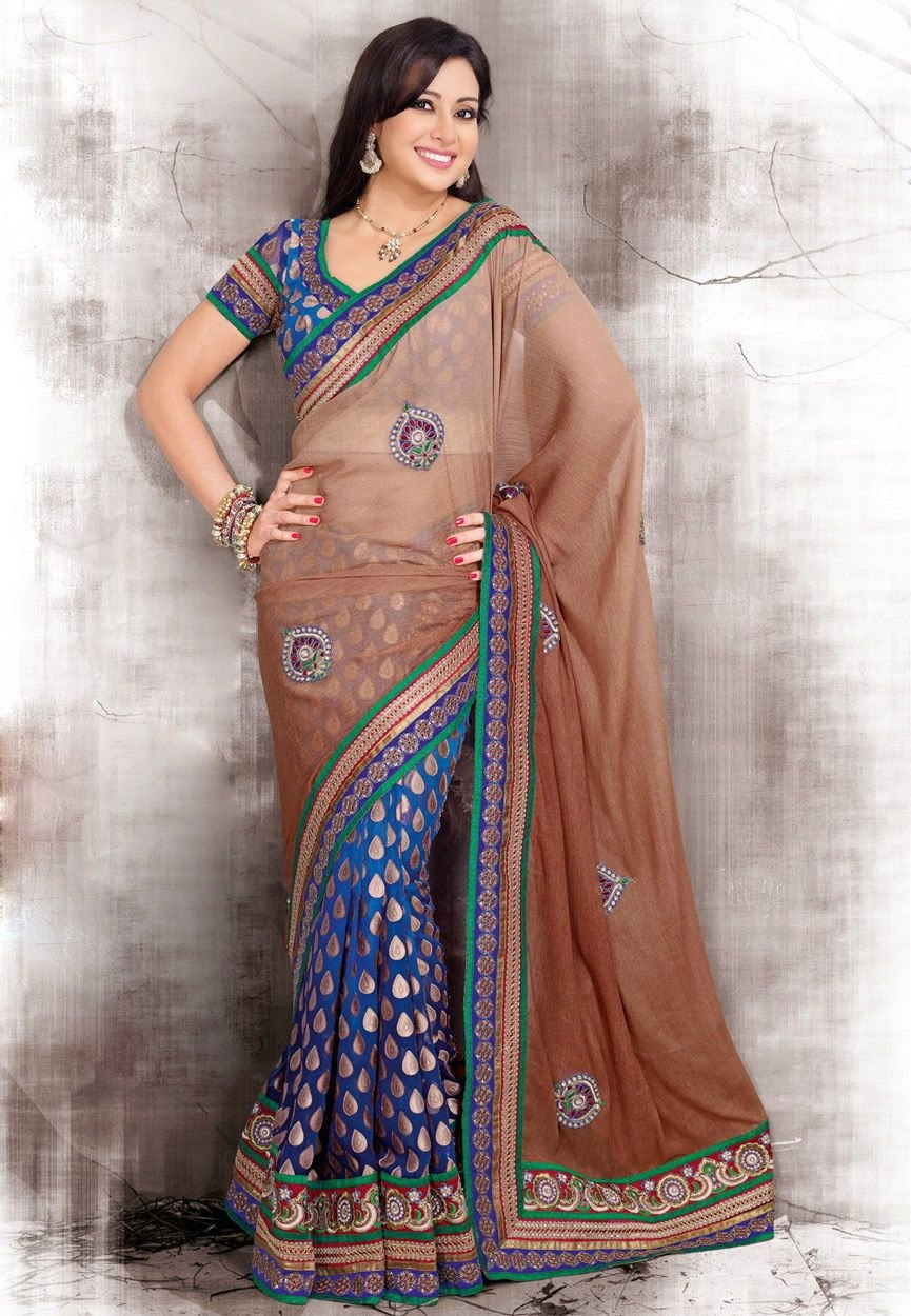 Beautiful Sarees Collection For Actress Preeti Jhangiani Wallpapers Free Download